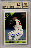SEAN REID-FOLEY 2015 TOPPS HERITAGE REAL ONES AUTOGRAPH MINORS BGS 9.5 10 AUTO !