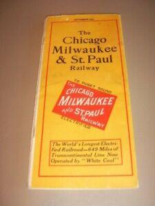 Chicago. Milwaukee & St. Paul System Timetable - September 1923 Mt. Ranier +++