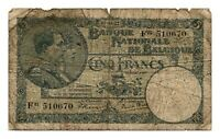 BELGIUM banknote 5 Francs 1922