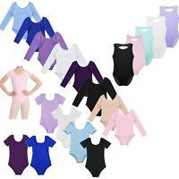kid Girl Gymnastics Ballet Dance Leotard Dress Sport Bodysuit Cotton Dancewear