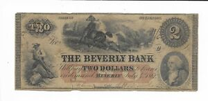 1861 Beverly Bank New Jersey plate C Horses Musket Loader Vignettes