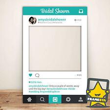 Teal Bridal Shower Instagram Frame (80 x 110 cm) Bridal Shower Gift