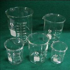 GG17 Chemistry Borosilicate Glass Beaker,5 Piece Set 50, 100, 250, 500, 1000