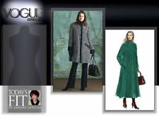 Vogue V8163 Misses Winter Dress Trench Coat 2 Lengths Size a B C (Bust 32-34-36)