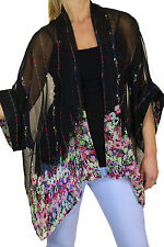 Hip Length Chiffon None Floral Coats & Jackets for Women