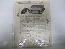 58 Edsel Model 855E Radio Parts List & Wiring Diagrams USED