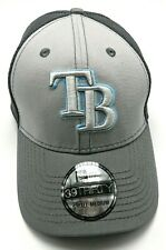 TAMPA BAY RAYS gray stretch-fit fitted cap / hat - size S / M  **NEW**