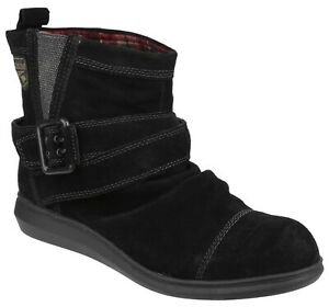 Rocket Dog Mint black suede pull on ankle boot