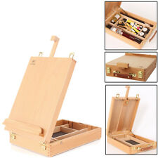 French Easel Artist Wooden Table Top Desk Sketch Case Floor Easel Art Painters