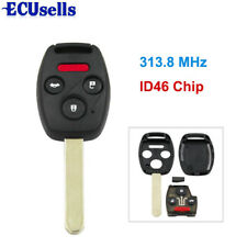 Remote Key Fob 4 Button 313.8Mhz ID46 Chip for Honda Accord Fit Civic 2003-2007