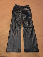 Womens Juniors Copper Key Leather Pants Sz 3 Black 100% Leather Flat Front