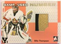 2006-07 ITG Heroes & Prospects Game-Used Number Billy Thompson Vault Black 1/1
