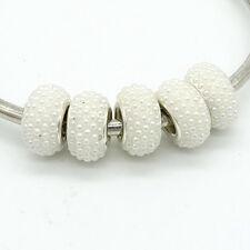 5pcs Silver CZ Rhinestone Bead fit 925 European Charm Bracelet jewelry Chain A10