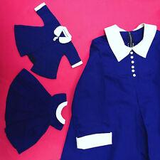 Vtg Madeline doll dress set with matching Kids dress - Rare! So great!