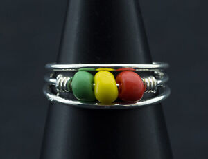 Ring Fuß Pl D' Zeh Ethnika Rasta Einstellbar aus Metall Weiß W90 1021