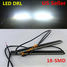 2x Super Bright Cool White 5630 18-SMD Car COB LED Lights DRL Fog Driving Lamps