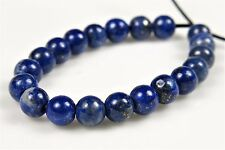 Quality Natural Genuine Lapis Lazuli Small Round Bead- 4.2~4.4mm- 20 beads-4913A