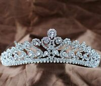 US Women Wedding Bride Bridemaid Crystal Bridal Tiara Crown Headband Costumes