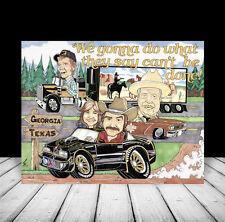 SMOKEY & THE BANDIT artist signed POSTER ART Burt Reynolds in Pontiac Trans Am