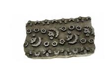 TAMPON BOIS A BATIK ANCIEN TEXTILE INDE NEPAL  NP17D3
