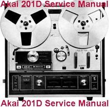 AKAI X-201D  REEL TO REEL TAPE DECK  SERVICE MANUAL