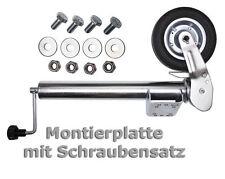 PKW Anhänger Stützrad Automatik Trailer Bugrad Hängerstützrad Wohnwagen Stütze