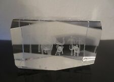 Laser Etched Crystal Cube Paperweight