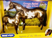 BREYER #1446-SPIRIT OF THE HORSE PAINT/OVERO MARE AND FOAL NIB (2012-2015)