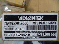 "DRI-SHIELD 3000 DRYLOK 3000 STATIC SHIELDING MOISTURE BARRIER BAG 16""x18"" 100 PK"