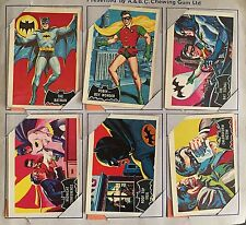 Ultra Rare Vintage 1966 Batman Black Bat A & B C Chewing Gum Trading Cards Set O
