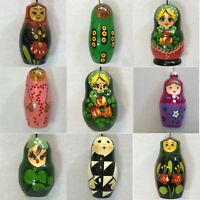 T44 NESTING DOLL ORNAMENTS Each priced separately MANY CHOICES