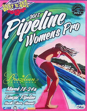 Official 2015 Women Pipeline Pro Hawaii Surfing Contest Christie Shinn Poster