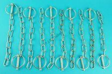 10 x Lynch Pin & Chain 8mm Pin x 40mm Ring Trailer Horse Box & Van Tail Gate Pin