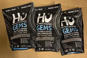 3 Pack Hu Gems Snacking Dark Chocolate Paleo Vegan 9oz (3 Pack) Exp 10/2020
