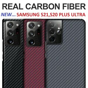 New Real Pure Carbon Fiber Cover Case for Samsung Galaxy S21 S20 Plus Ultra US