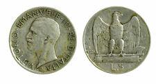 pci4624) Vittorio Emanuele III  (1901-1943) - 5 Lire Aquilino 1928 **