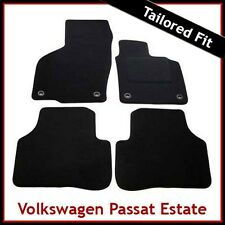 Volkswagen VW Passat B6 B7 2005-2015 Oval Clips Tailored Carpet Floor Mats BLACK
