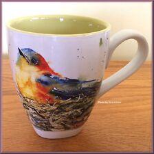Bird in Nest Mug Watercolor Stoneware by Dean Crouser 16 oz Free U.S. Shipping