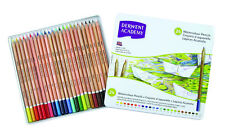 Derwent Academy Watercolour Pencils 24 Tin - Watersoluble Assorted Colouring Set