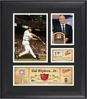 Cal Ripken Jr Orioles Framed 15x17 HOF Collage & Piece of GU Ball - Fanatics