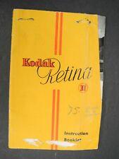 Kodak Retina II 1950 Camera Instruction Book / Manual / User Guide