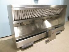 "HEAVY DUTY COMMERCIAL 108""W SS RESTAURANT KITCHEN EXHAUST HOOD w/RETURN AIR VENT"