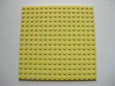 "Lego Bright Light Yellow 16x16 stud Flat Plate 5""x5"" Base Plate -Part # 91405"
