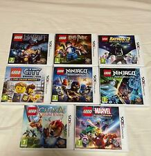 Lotto 8 Giochi Lego Nintendo 3DS 2DS (Batman, Hobbit, Harry Potter, Marvel, ecc)