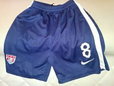 NIKE USA SOCCER TEAM LOGO #8 CLINT DEMPSEY NAVY BLUE SHORTS SIZE 26 YOUTH BOYS