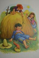 Vintage Penn Prints New York Little Boy Blue Nursery Rhymes 1940's