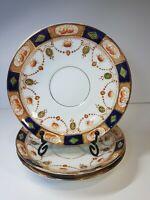 "3× Vintage Imari pattern Rosina Porcelain Saucers 5.5"""