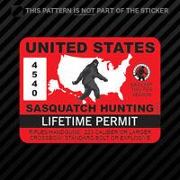 United States Sasquatch Hunting Permit Sticker Vinyl Bigfoot 13igfo0T