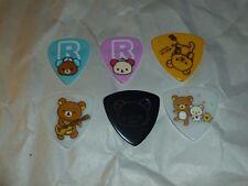 RILAKKUMA - Set of 6 Guitar Picks - KORILAKKUMA - san-x - BLUE Pink BLACK  Japan