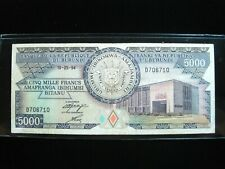 Burundi 5000 Francs 1994 Africa Sharp 710# World Banknote Currency Money